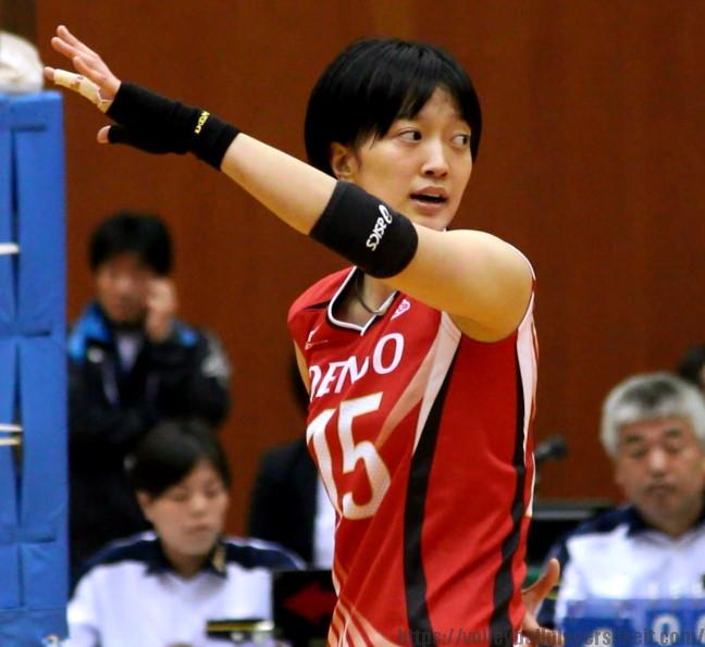 15番ウイングスパイカー 鍋谷友理枝選手(Yurie Nabeya)